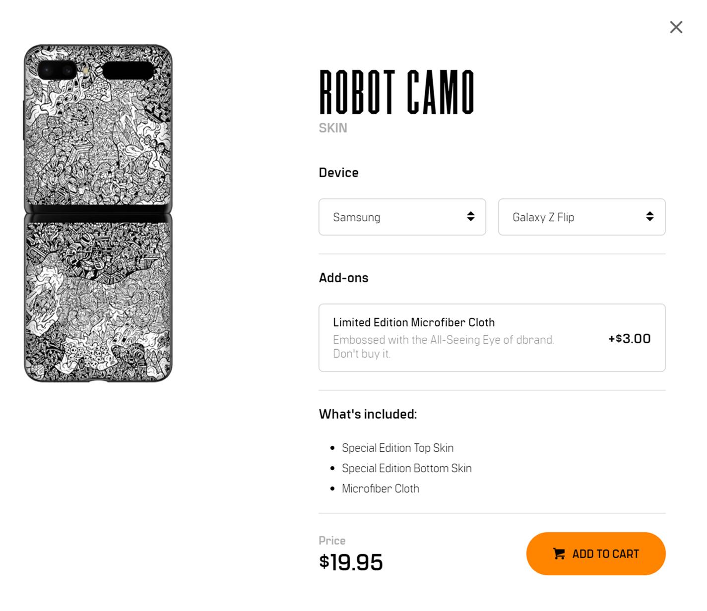 幫 Z Flip 找好看保護配件!ROBOT CAMO『機器人迷彩』機身保護貼 @3C 達人廖阿輝