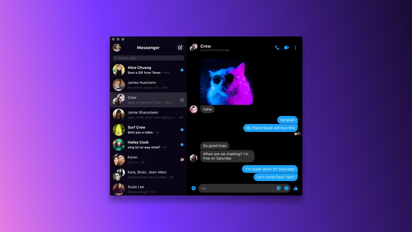 Facebook 推出可以用於群組視頻通話的新版 Messenger 桌面 (PC/Mac) 應用程式 @3C 達人廖阿輝