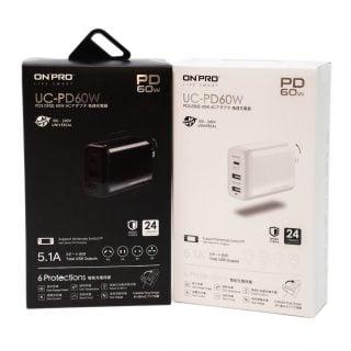 筆電手機平板 Switch 一個充電器就搞定! ONPRO UC-PD60W 三口萬國 USB PD 充電器 @3C 達人廖阿輝