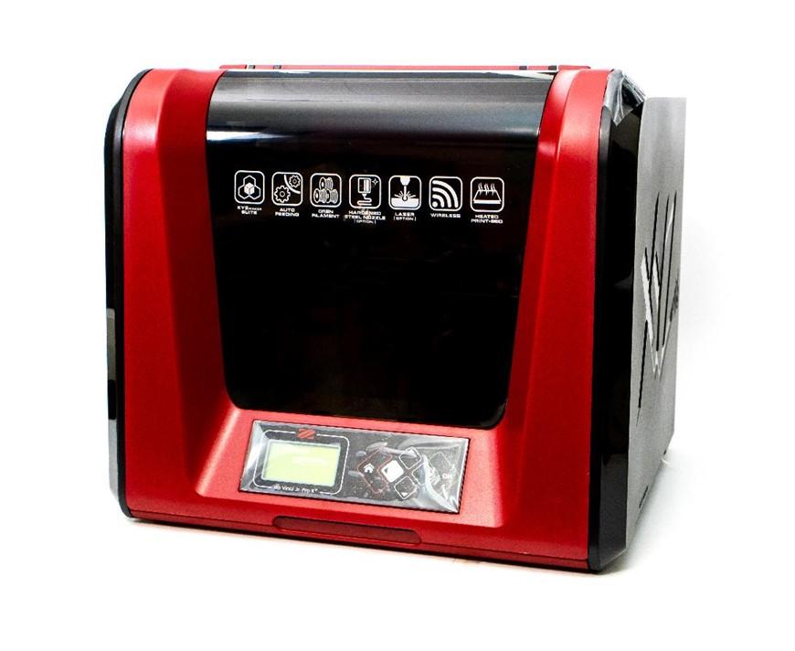 多功能3D列印機-da Vinci Jr. Pro X+,加熱式平台可維持線材溫度,防止物件翹曲,提供ABS等耗材的高品質列印環境