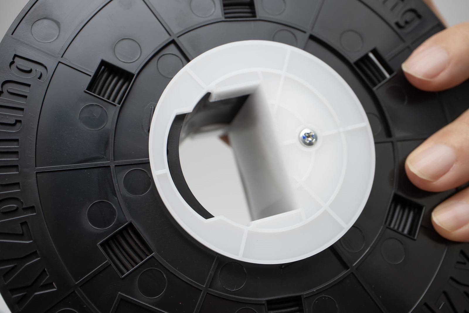 多功能3D列印機-da Vinci Jr. Pro X+3D列印機若使用原廠線材有NFC晶片在其線材軸,可讓機器透過讀取晶片偵測線材剩餘量以及自動調整最適合的參數設定