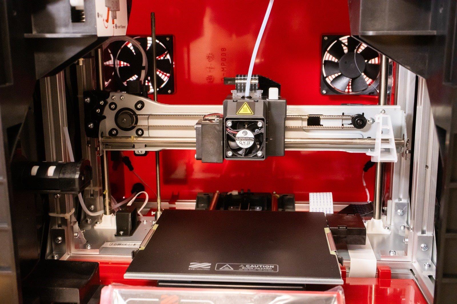 多功能3D列印機-da Vinci Jr. Pro X+,噴頭安裝完成