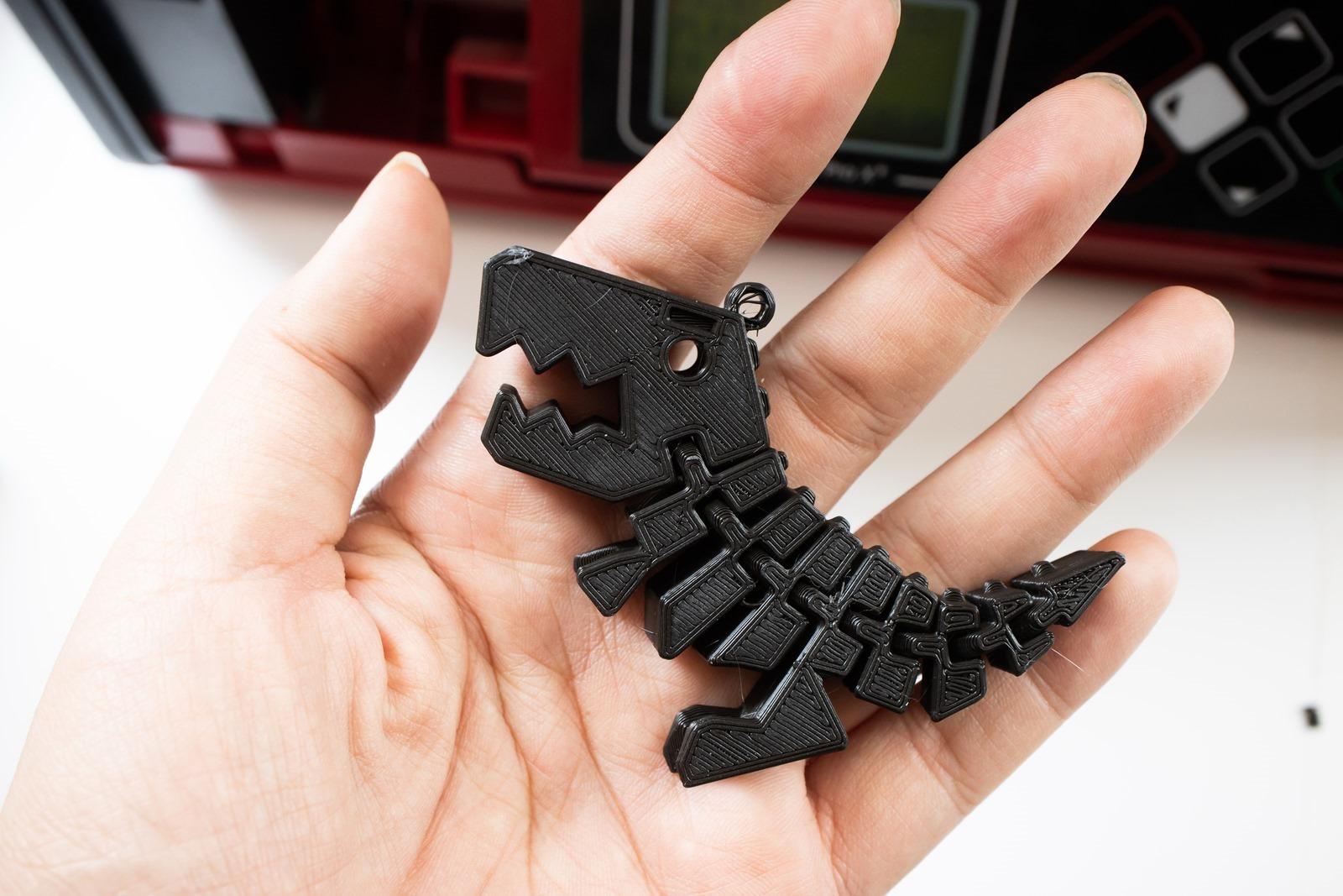 XYZprinting多功能3D列印機-da Vinci Jr. Pro X+, 列印小恐龍模型效果