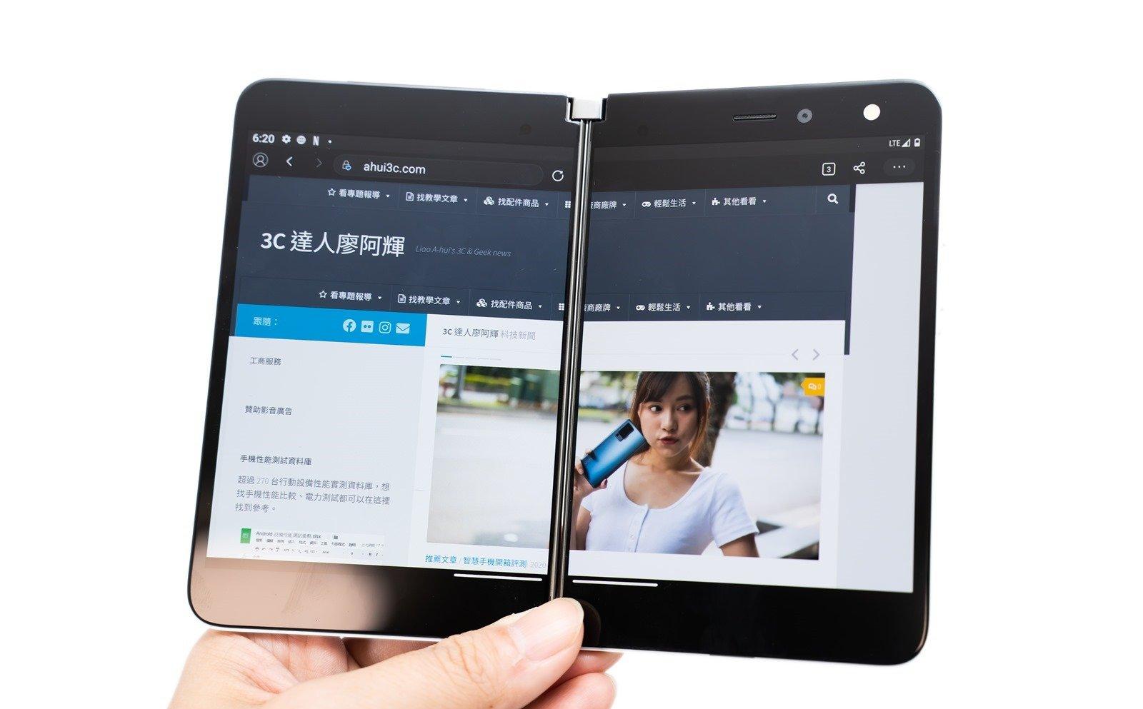 平板還是手機?微軟 Surface Duo 開箱簡單動手玩 @3C 達人廖阿輝
