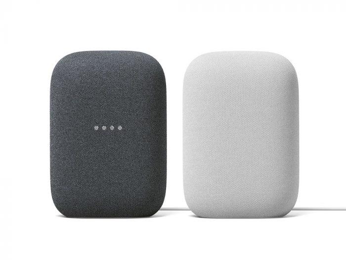 圖二:全新智慧音箱-Nest-Audio,在台推出「石墨黑」圖左-與「粉炭白」圖右-兩色.jpg @3C 達人廖阿輝