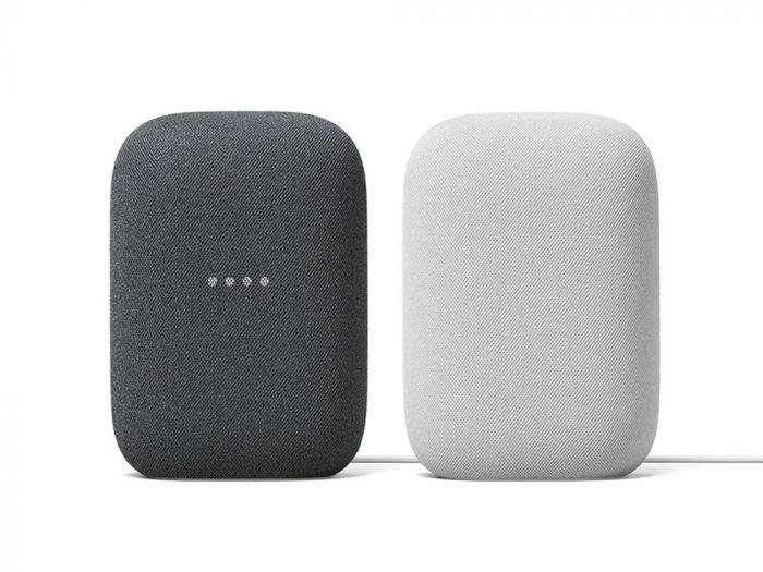 圖二:全新智慧音箱-Nest-Audio,在台推出「石墨黑」圖左-與「粉炭白」圖右-兩色_thumb.jpg @3C 達人廖阿輝