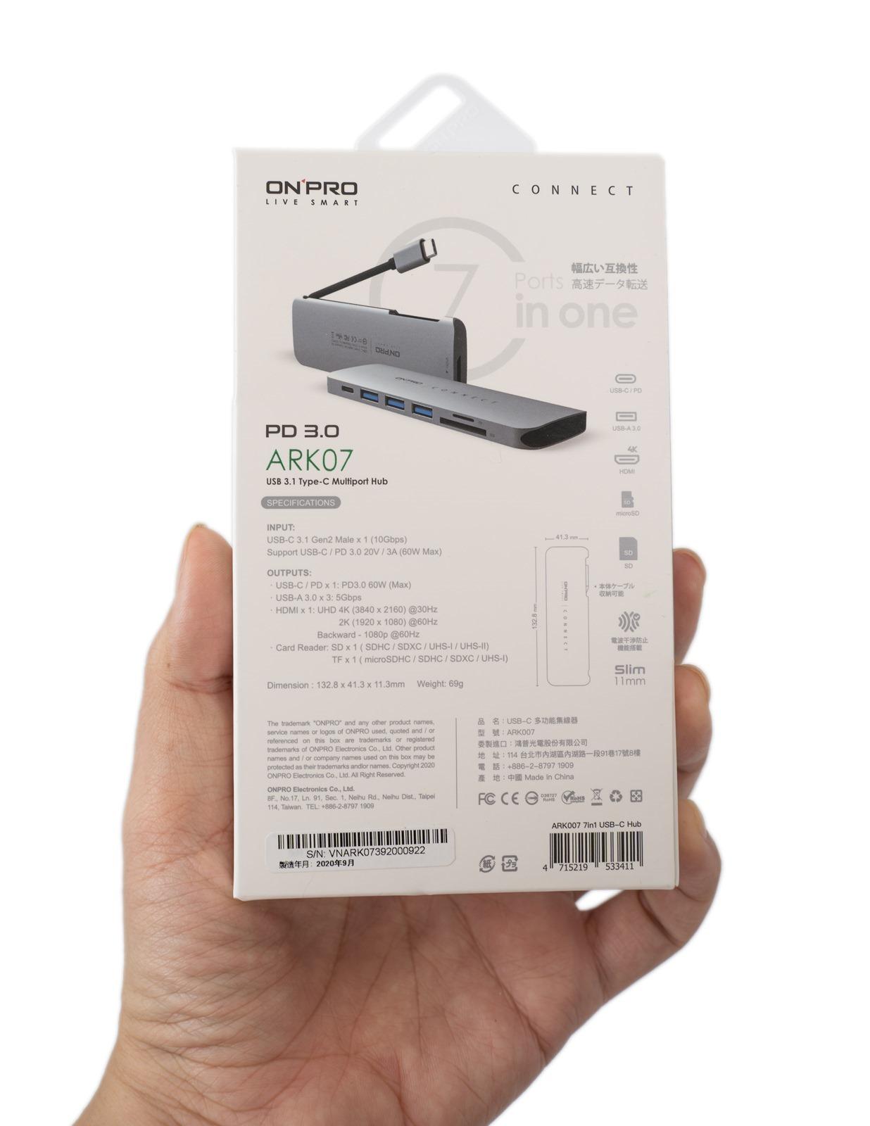 符合各種需求,從 5 合 1、7 合 1 到 11 合 1!每台筆電都有最適合的 ONPRO ARK Type-C 擴充多功能集線器 @3C 達人廖阿輝