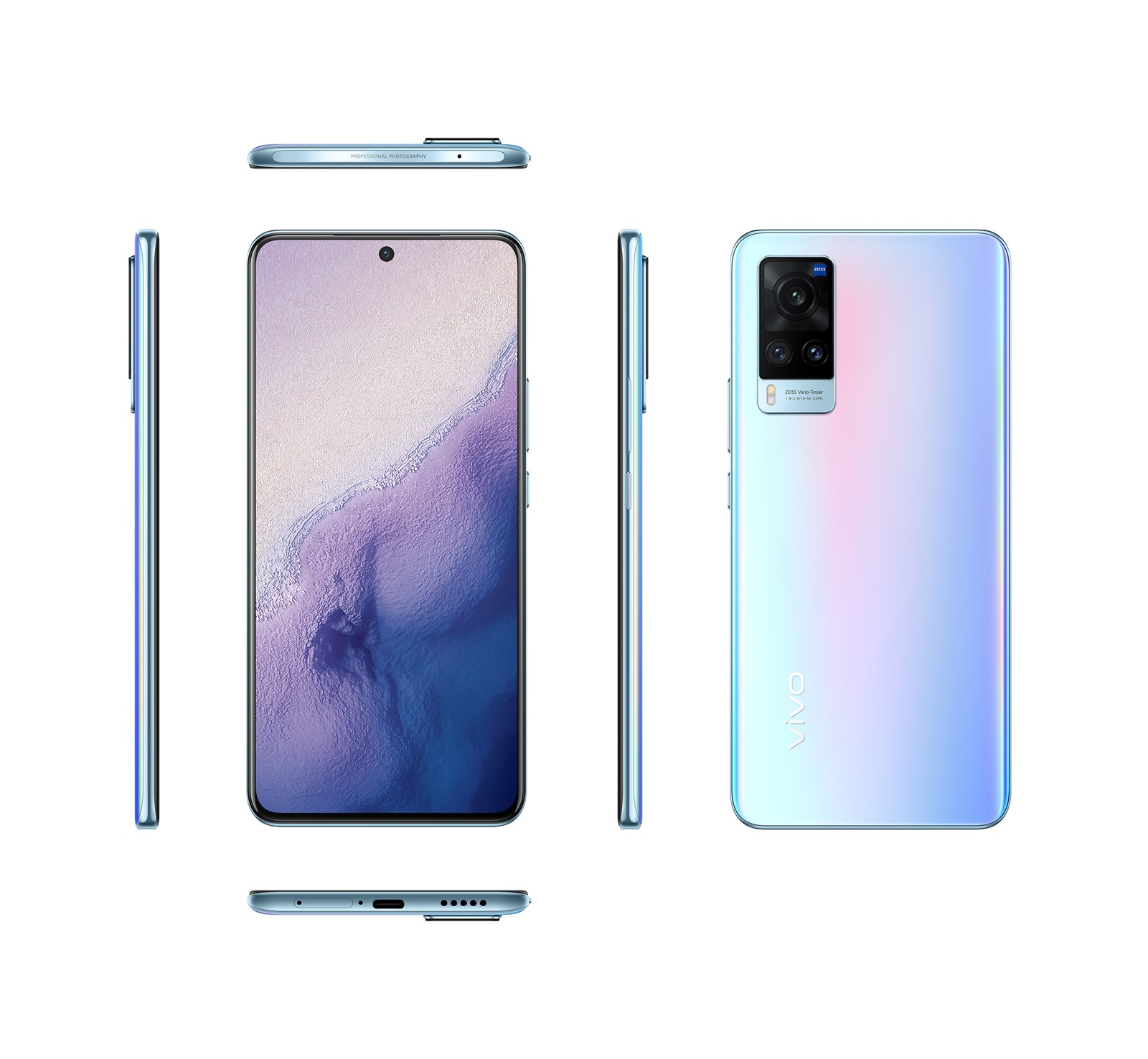 vivo-X60 厚度僅 7.36mm,是目前 vivo 最輕薄的 5G 旗艦級手機,圖為 X60-Pro 冰極光.jpg @3C 達人廖阿輝