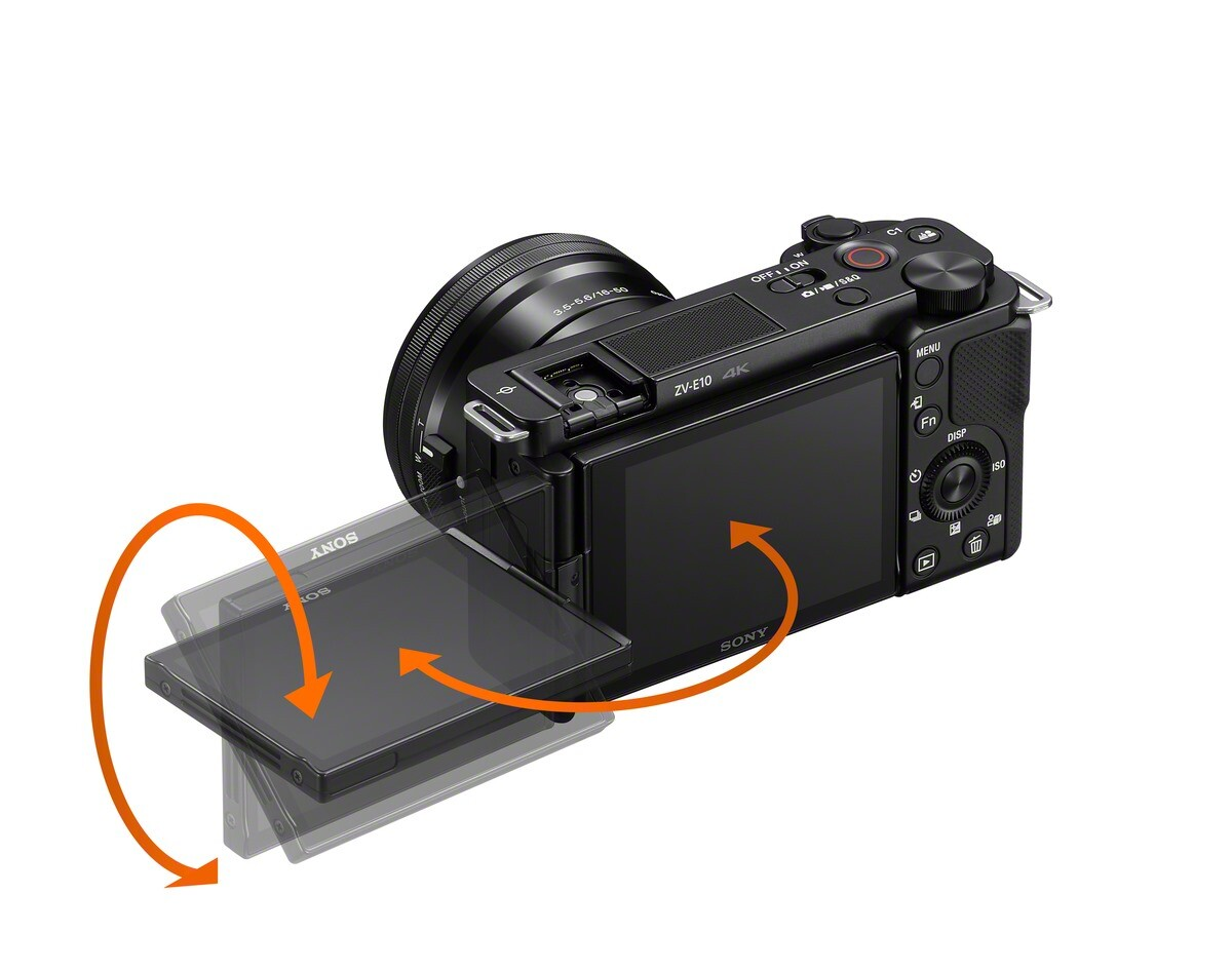 圖 2-全新-Sony-Alpha-ZV-E10-,為首款採用側翻式多角度螢幕的-E-接環-APS-C-片幅機種,並具備快速近距離對焦、產品展示模式與一鍵切換景深等超直覺拍攝設定,更加突顯對焦主體。.jpg @3C 達人廖阿輝