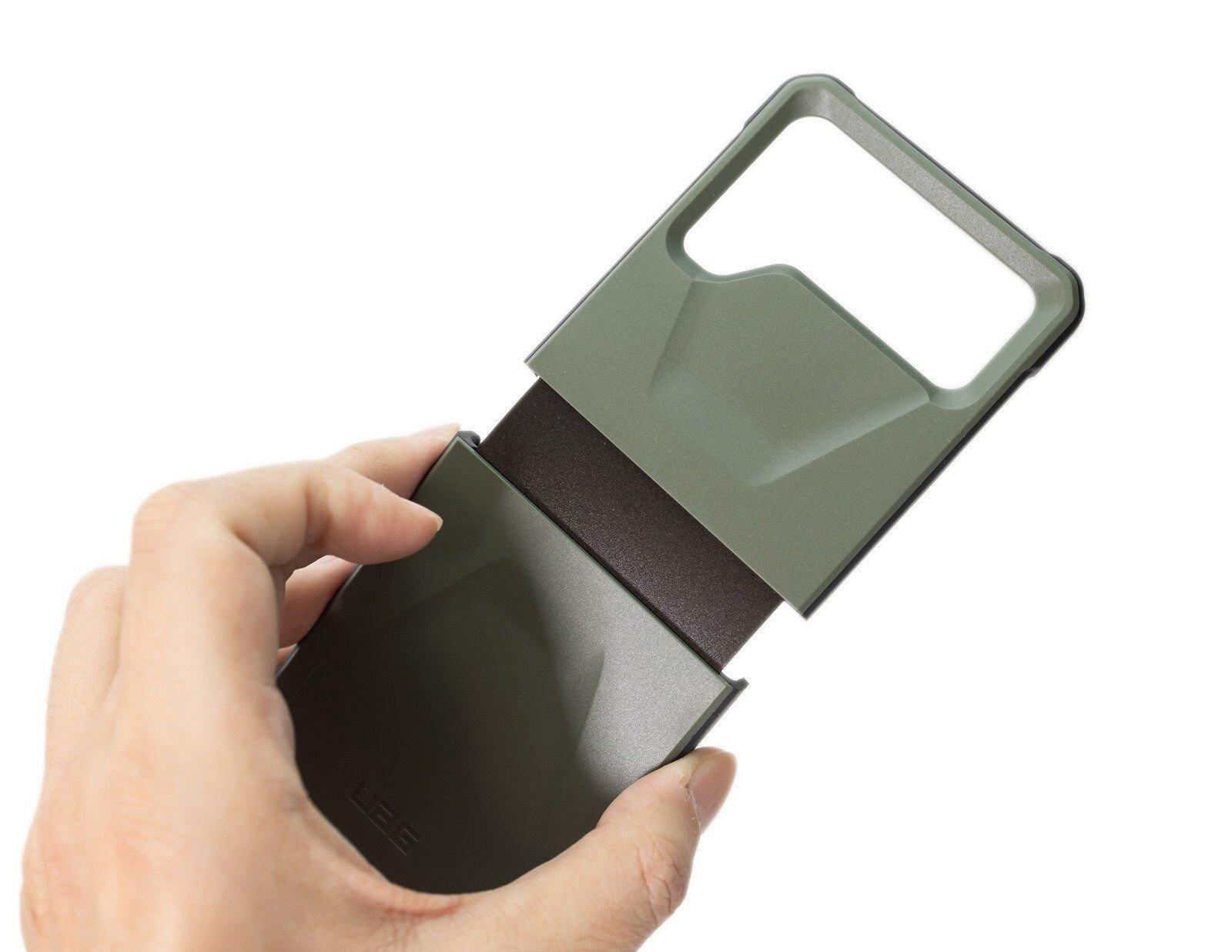 Z Flip 3 也有軍規防摔殼!UAG 耐衝擊簡約 Z Flip 3 保護殼開箱分享~ 圖多(綠色款 + 綠色 Z Flip 實際安裝)@3C 達人廖阿輝